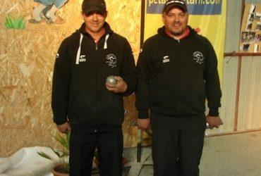 Vainqueurs Joseph BRUN et Christophe RIOU du club de la Pétanque Graulhètoise
